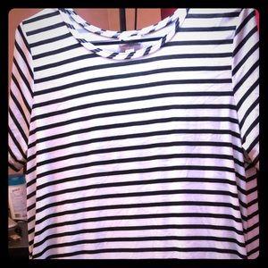 Black and white striped dress. LuLaRoe Jessie.